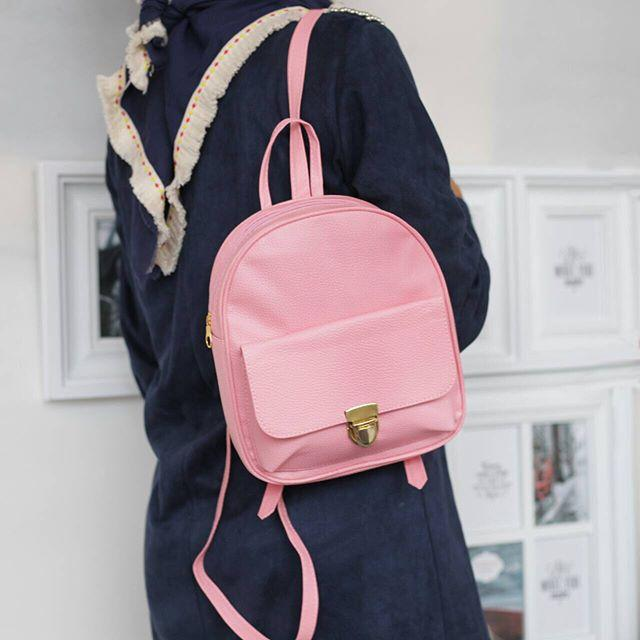 EL Mini Backpacks Gesper Mini Ransel Kulit Imitasi Gesper - Ransel Mini Ransel Lucu Tas Ransel