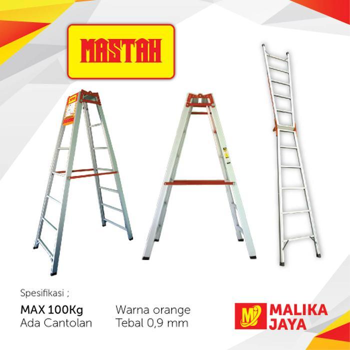 Promo Free Ongkir Malika Jaya Merk MASTAH Tangga Lipat Alumunium 2 Meter Original