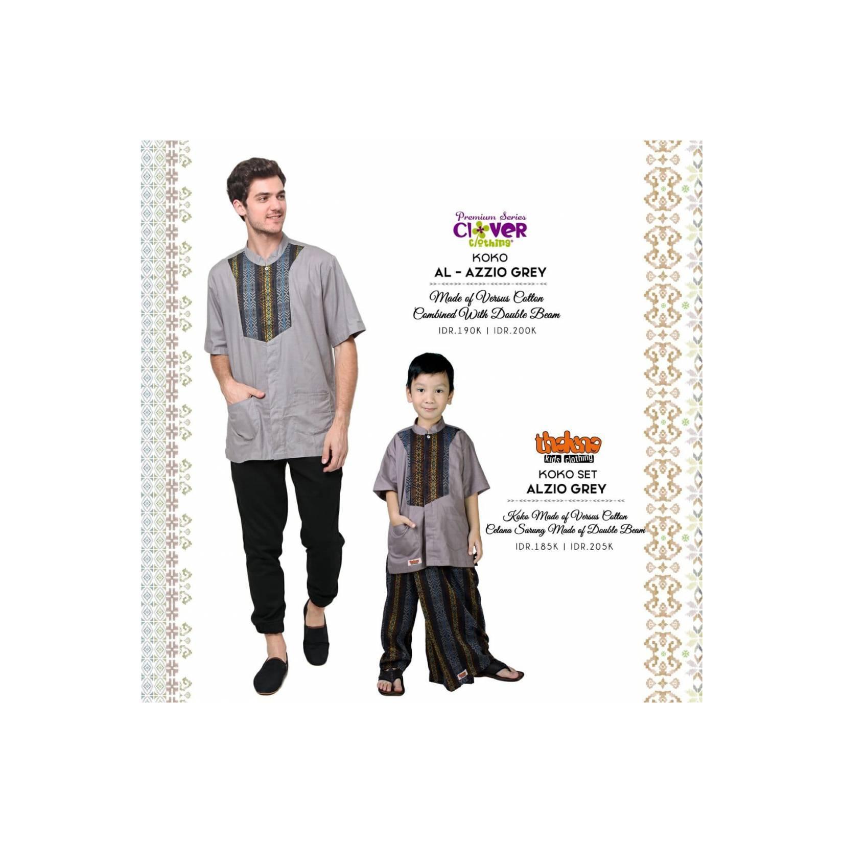 Baju Sarimbit Keluarga Koko Ayah dan Anak Original Clover Size S-XL