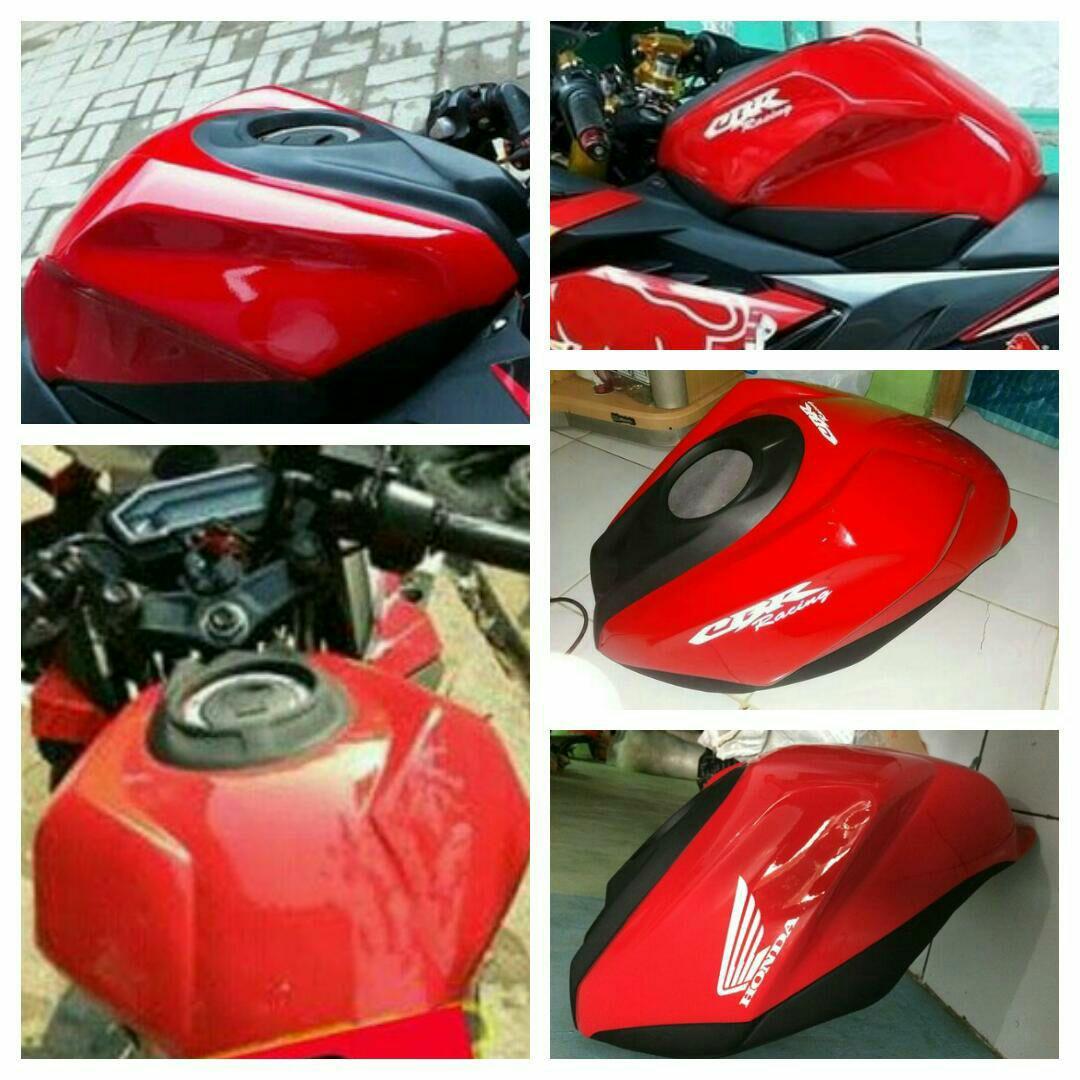 Paket Kondom Tangki + Vgrill + Winglet CBR New Facelift 150cc Model CBR 250cc Merah (