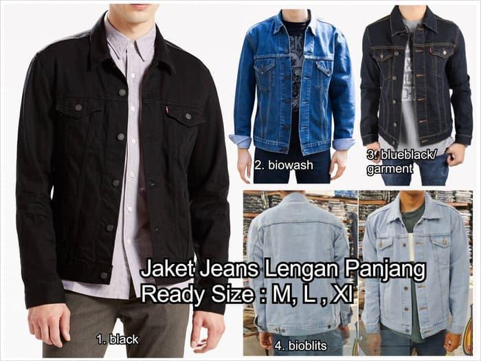 DISKON jaket jeans cowo cowok pria man model levis tebal denim jean oke punya TERMURAH