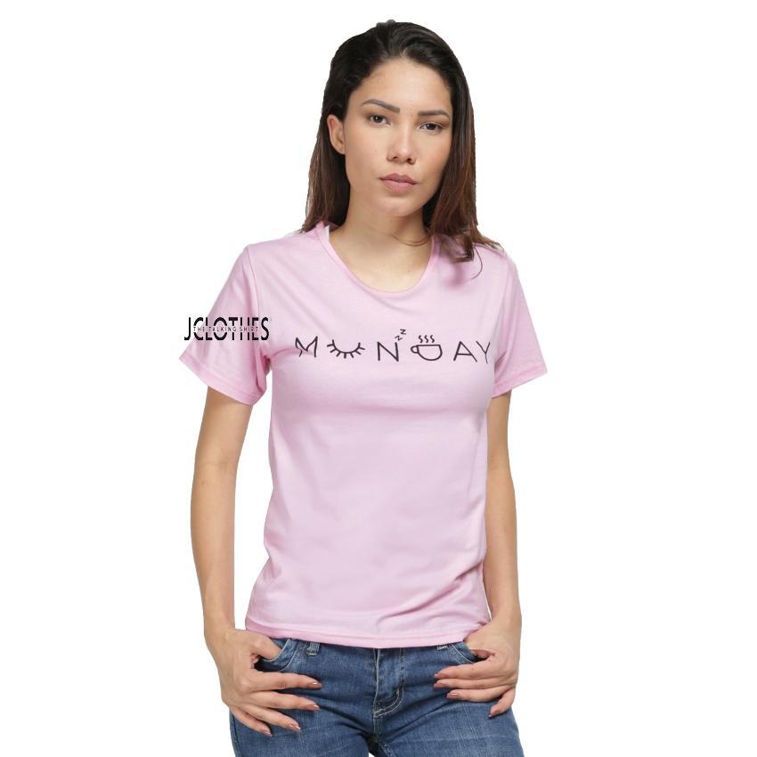 JCLOTHES Kaos Cewe / Tumblr Tee / Kaos Wanita Lengan Pendek Munday