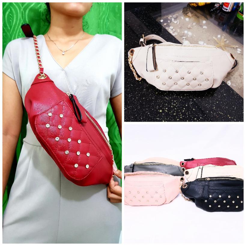 galery tas pinggang wanita diamond import-waist bag wanita diamond BISA BAYAR DI TEMPAT  tas wanita pinggang-tas fashion,premium quality