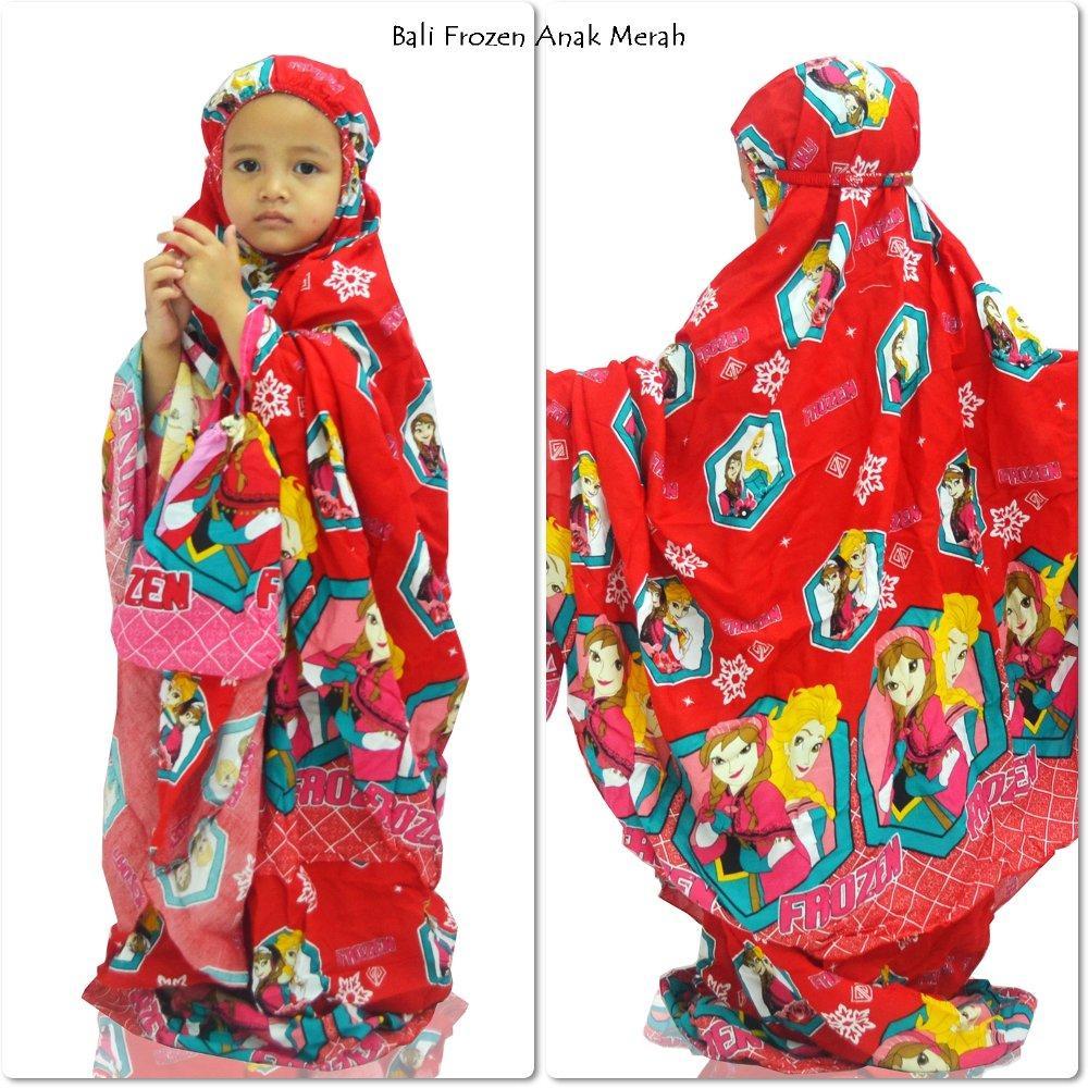 Mukena Anak Bali Frozen Merah di lapak Mukena Yumna mukenayumna