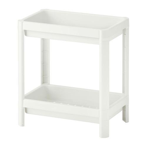 Ikea Vesken Unit Rak Kamar Mandi - Putih