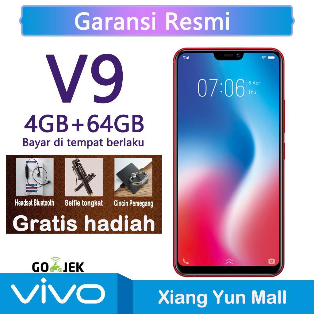 Vivo V9 4G/64G - 6.3 inches Snapdragon 450 AI Face Access FullView™ Display untuk Garansi resmi