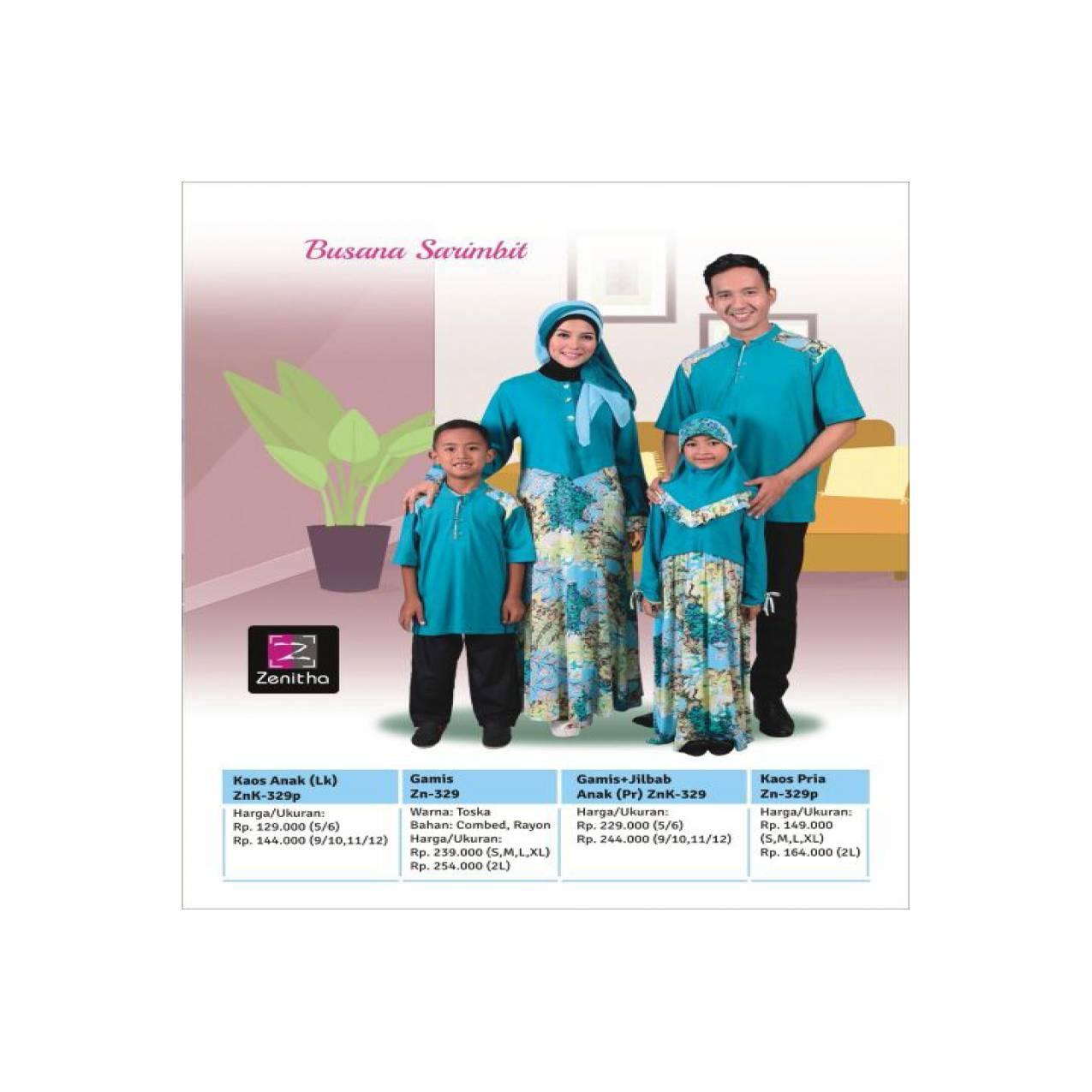Sarimbit Keluarga Toska - Zenitha - ZN 329 - Baju Muslim Keluarga