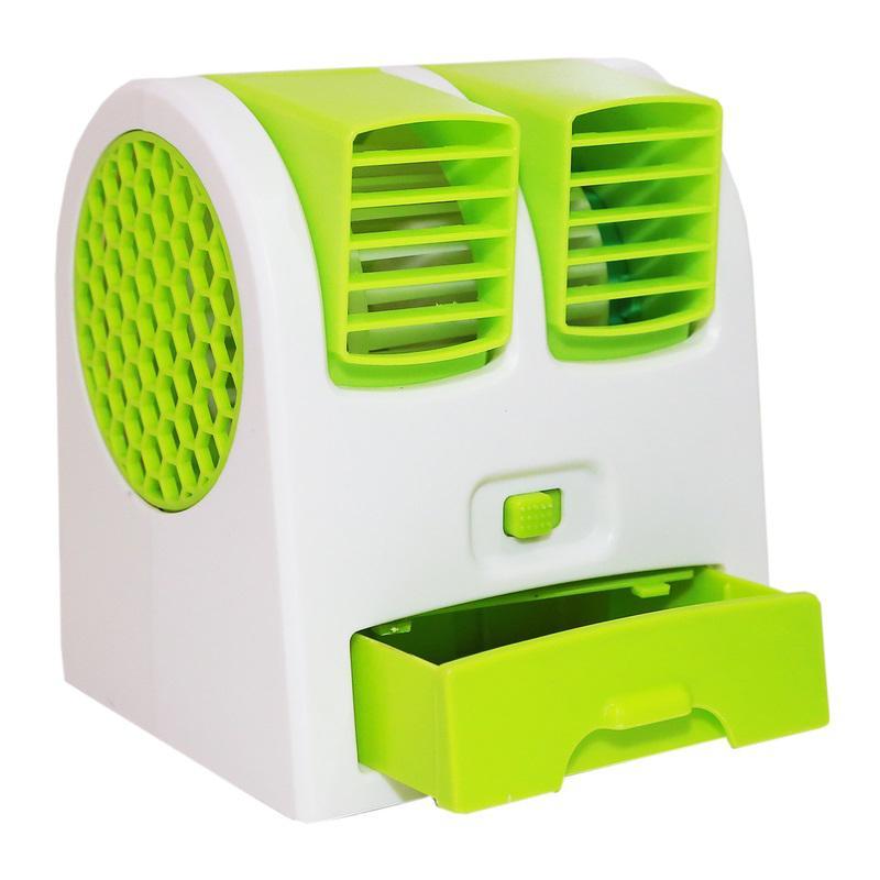 Double Blower AC Mini Fan Portable