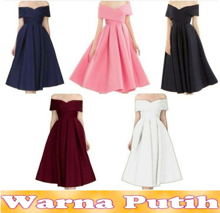 Popuri Fashion Dress Sabrina Beaudet - Wedges Scuba Baju Dress Wanita Murah Kekinian Terbaru Gaun Pakaian Gaun Dress Wanita Dresss Gaun Dress Wanita Dres