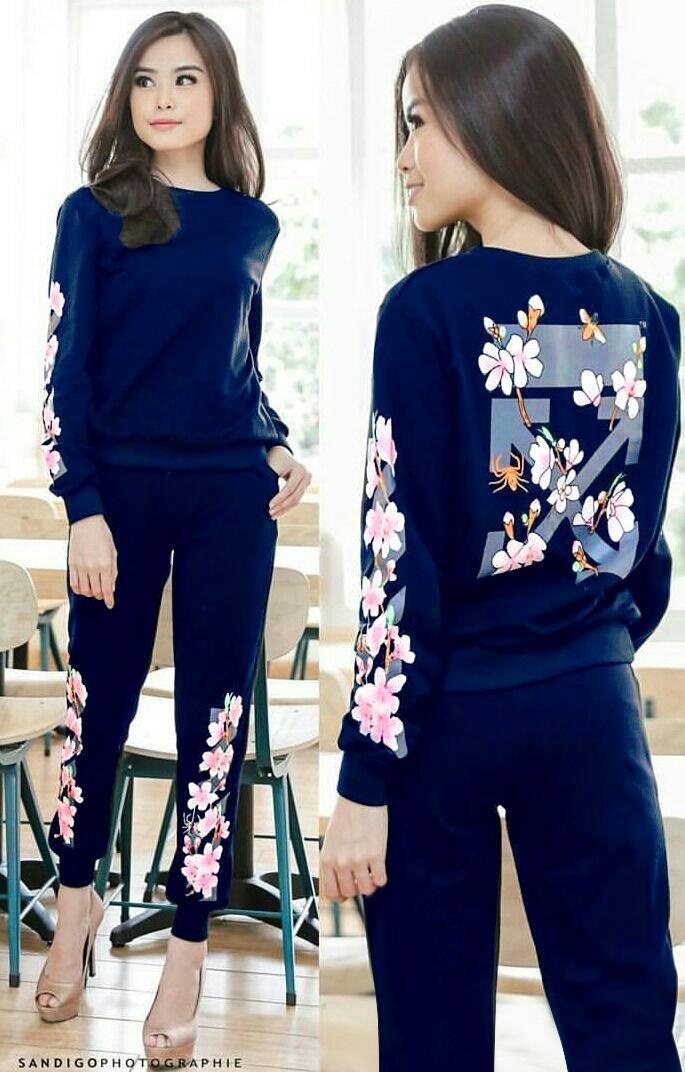 Laxda J stelan Chacha stelan training sweater stelan murah fashion wanita IDR 75 .