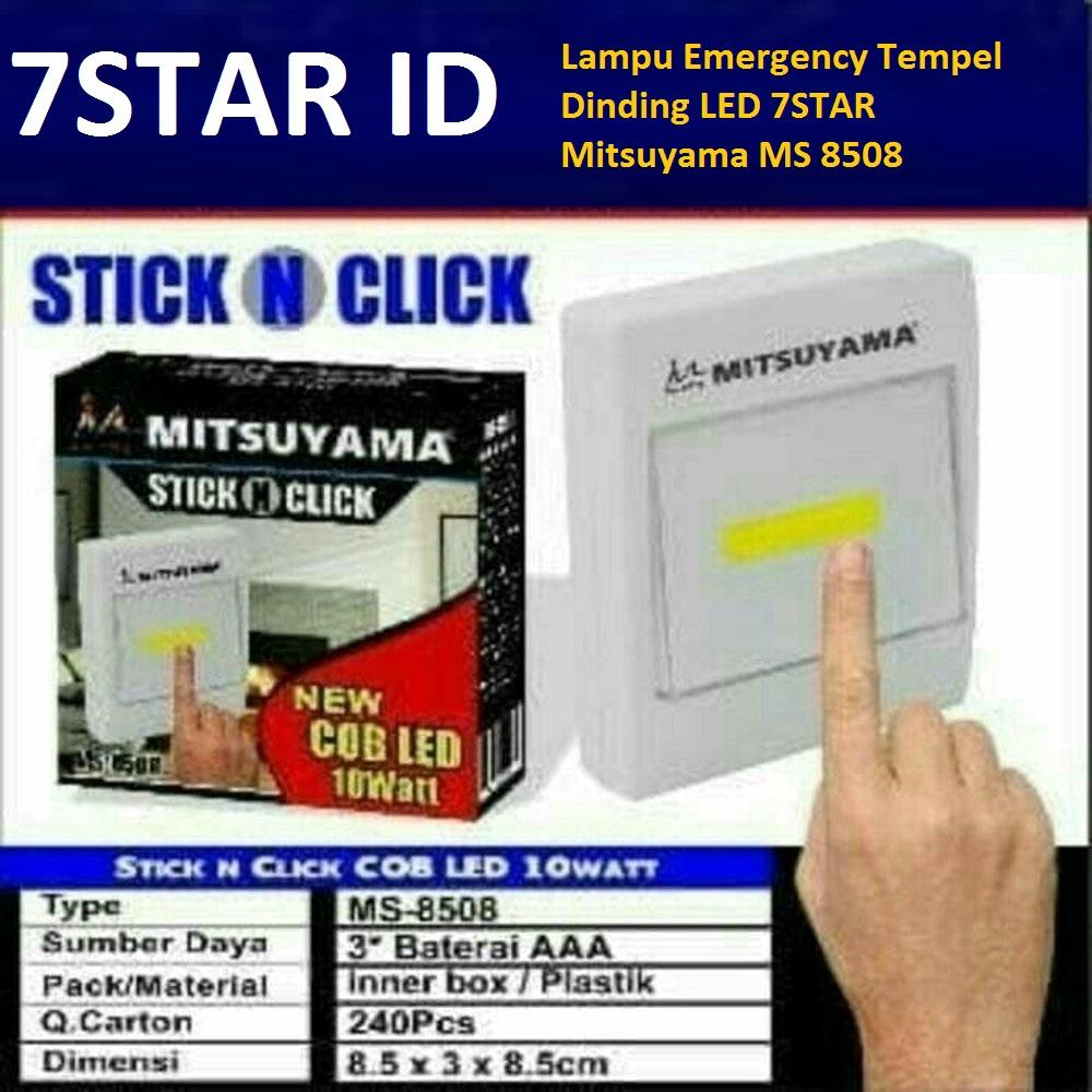 Jual Lampu Dinding Tempel Pagar Pilar 45 Emergency Led 7star Cob Stick N Click