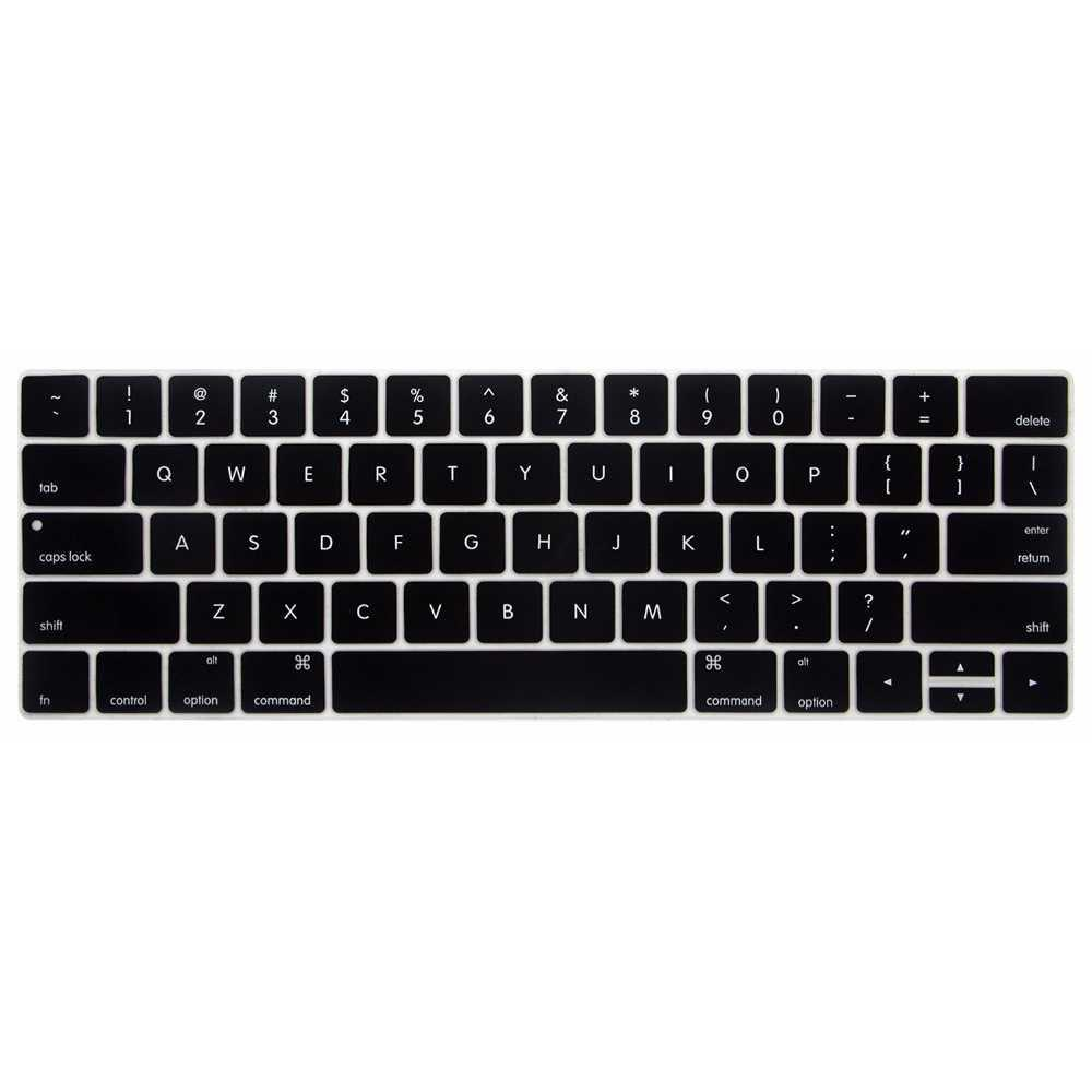 Rimas Silicone Keyboard Cover For Macbook Pro 2016 With Touchbar - Transparent / Transparan / Black / Hitam - FREE ONGKIR & Bisa COD