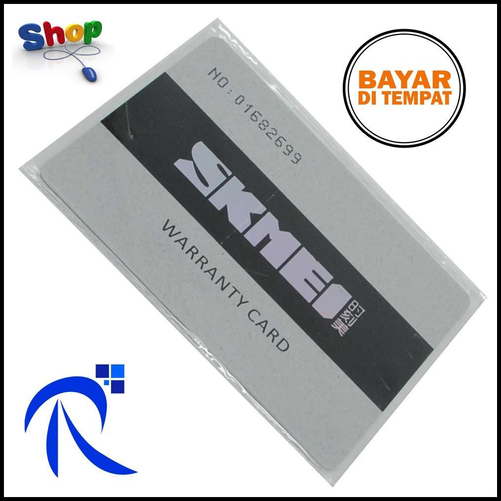 Kartu Garansi SKMEI - Silver / Perak Kartu Penjamin Jaminan Jam Tangan SKMEI Rusak ORIGINAL FREE Ongkir & Bisa COD