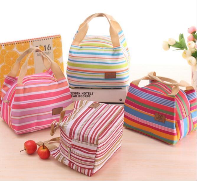 Rp 28.600. Cooler Bag Motif Salur / Tas Cantik Untuk Bekal / Tas Makanan Pikinik ...