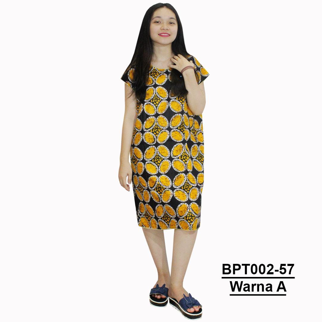 Midi, Daster Midi, Dress Santai, Baju Tidur, Piyama, Atasan Batik (BPT002-57) Batikalhadi Online
