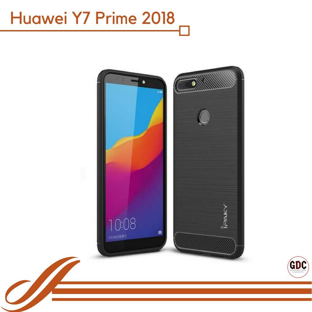 Case Huawei Y7 Prime 2018 Ipaky Carbon Soft Series