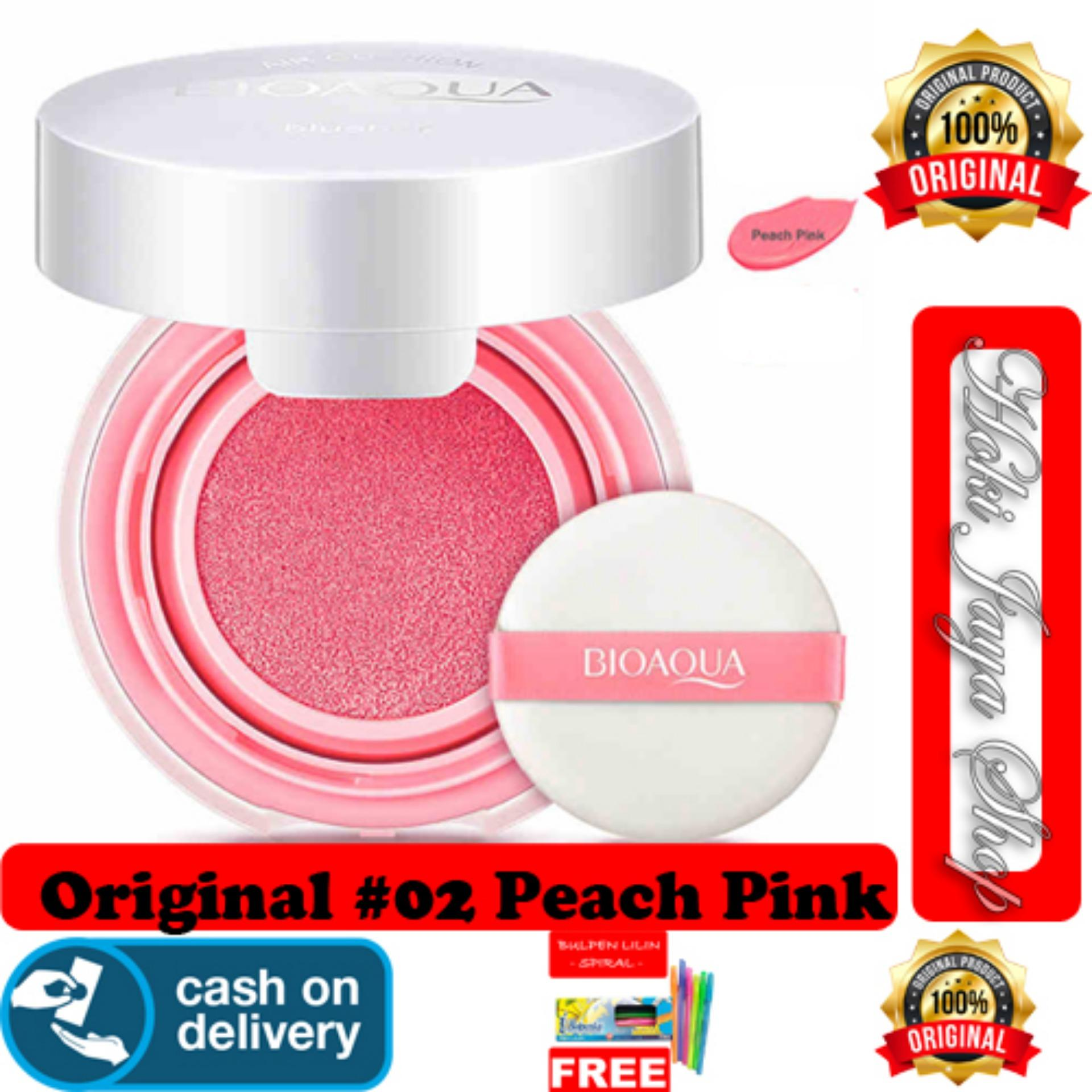 HOKI COD 02 PEACH PINK BioAqua Blush Air Cushion Smooth Muscle
