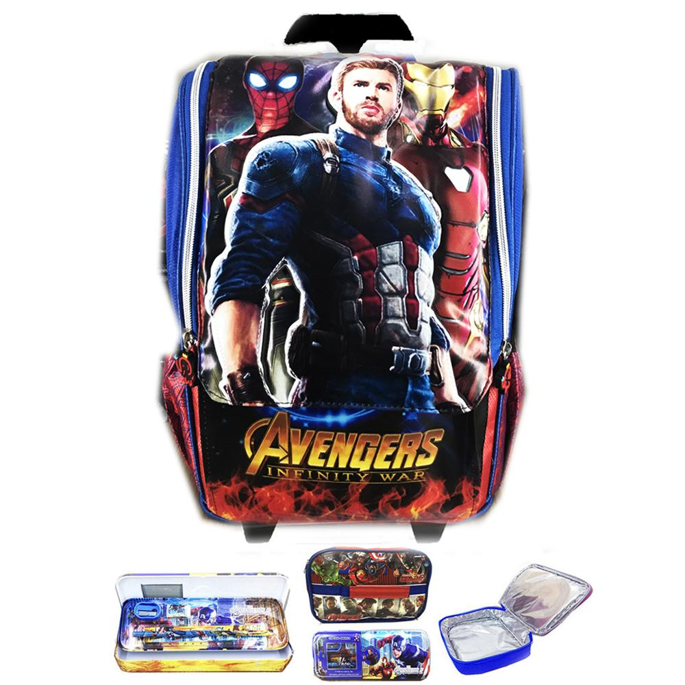 BGC Tas Troley Sekolah Anak SD Avenger Infinity War Iron Man Thor Odinson 3D Timbul Hard CoverIDR160000. Rp 160.000