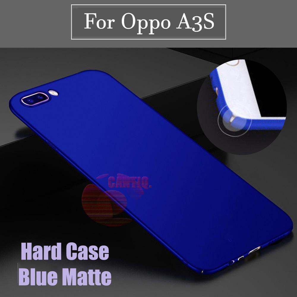 Case Oppo A3S Hard Slim Blue Mate Anti Fingerprint Hybrid Case Baby Skin Oppo A3S Baby Soft Lenovo  Hardcase Oppo A3S Plastic Back Cover / Casing Oppo A3S / Case Oppo A3S - Navy / Biru tua
