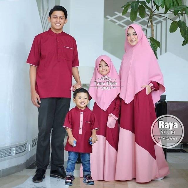 Raya series by fania hijab toyobo adem mewah nyaman busui muslim muslimah syar'i mirip elzatta zoya (dress anak set M)