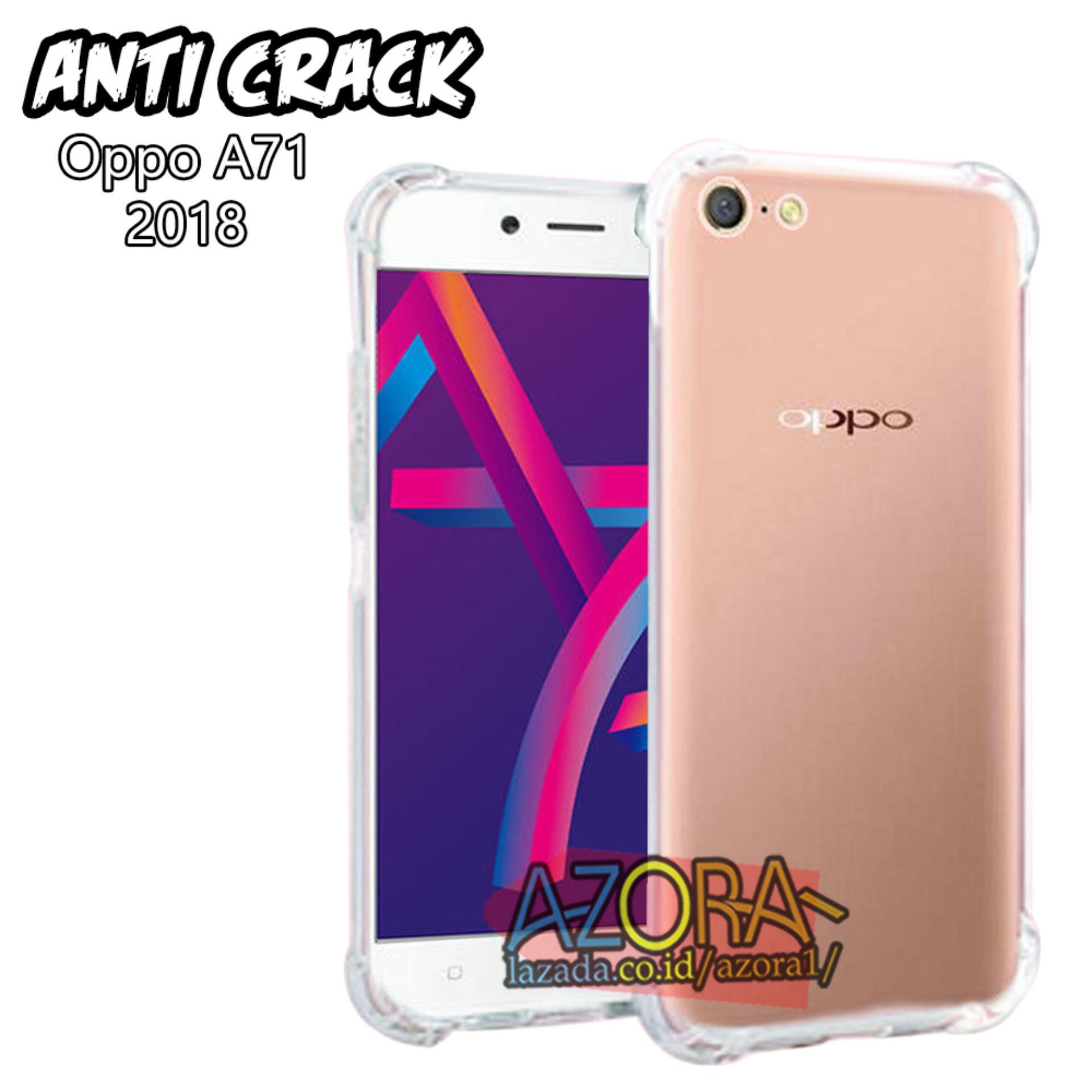 Case Anti Crack Oppo A71 2018 Ultra Thin Anti Shock Jelly Silikon Shockproof Softcase Azora - Bening