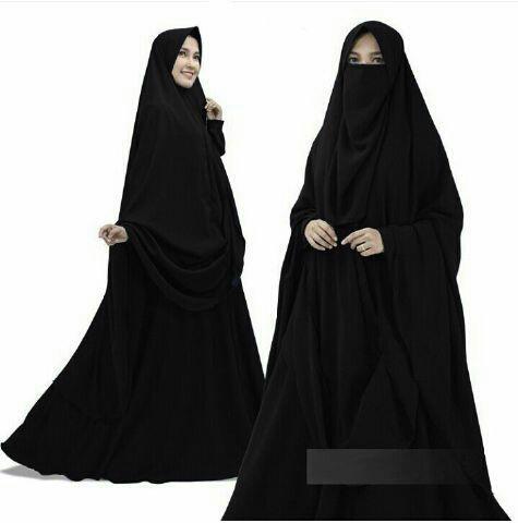 Baju setelan gamis cadar muslimah