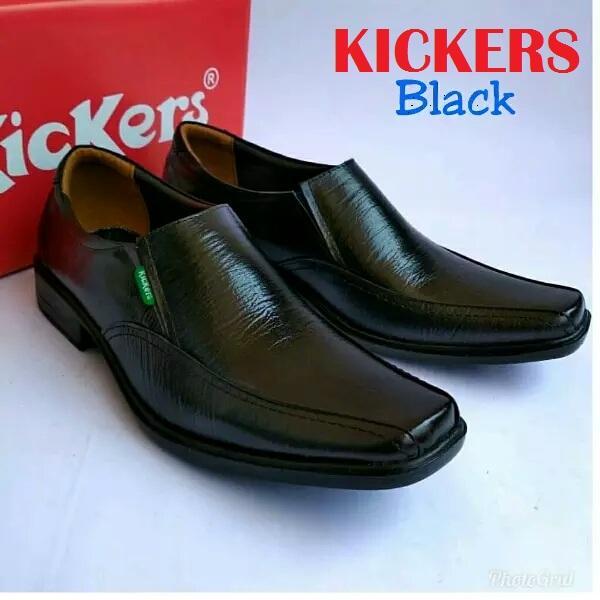 Sepatu Kickers Pria Sepatu Pantofel Pria Formal Kerja Kantoran Rapat  Sekolah Bahan Kulit Sapi Asli 100 f20b7f91a2