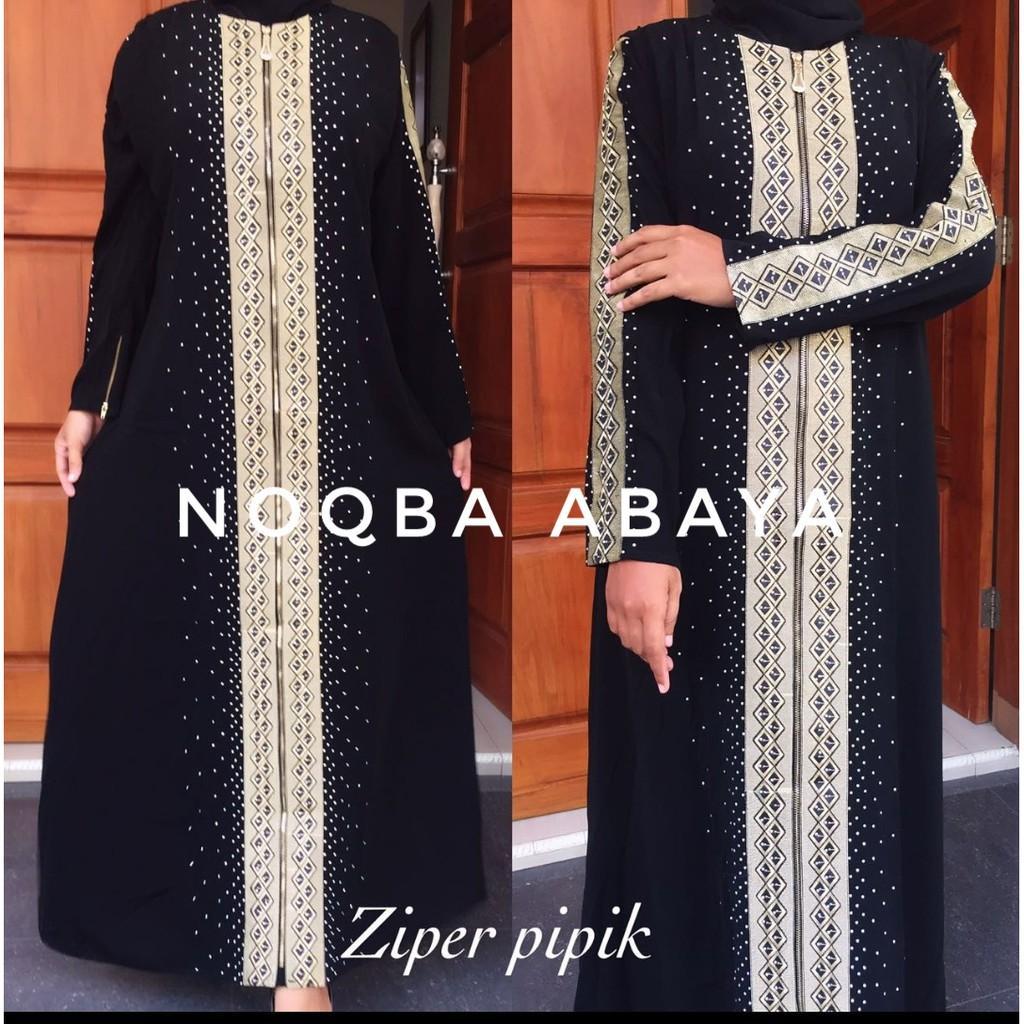 Abaya Bordir Super Pipik Dubai Dress Syari India Umroh Exclusive