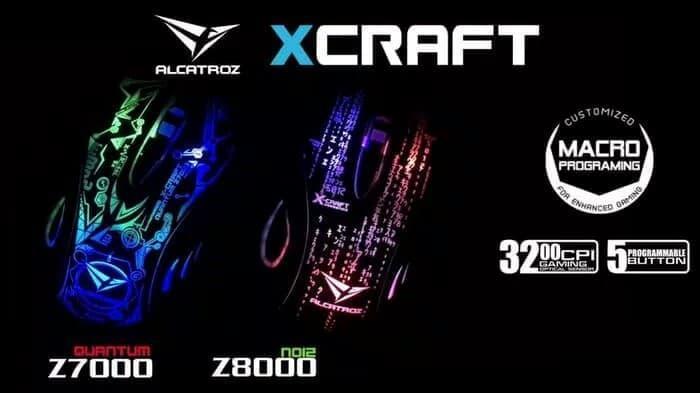 ALCATROZ X-CRAFT Z8000 NOIZ - GAMING MOUSE ORIGINAL