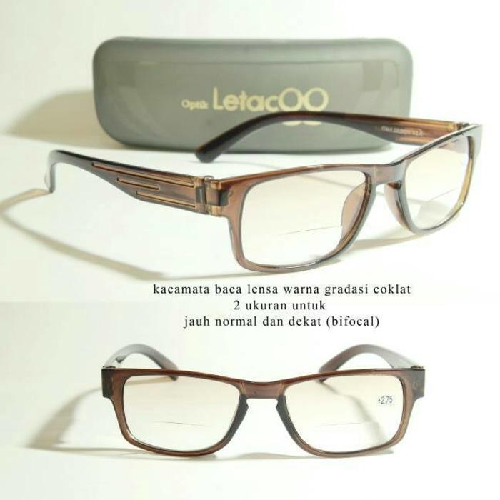 kacamata baca plus / kacamata progresif / lensa bifokal