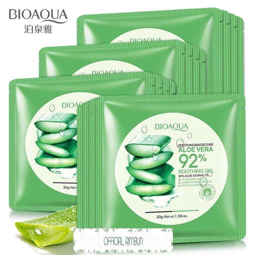 Bioaqua Sheet Mask 92% Aloevera Masker Wajah Aloe Vera Whitening Melembabkan - 30ml - 3