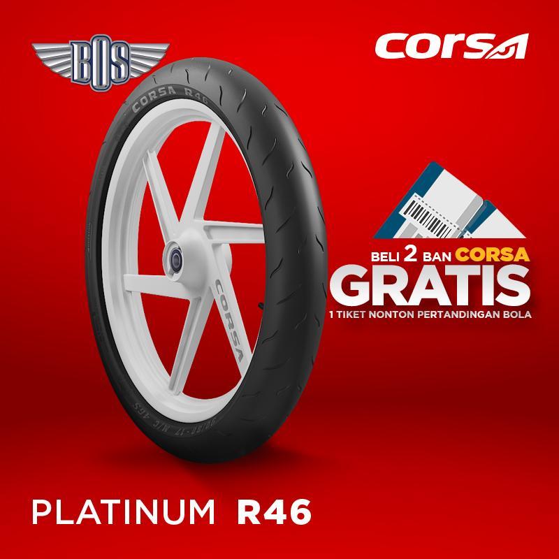 Ban Motor Corsa (Front/Rear) R46 120/60 - 17 TUBELESS GRATIS JASA PASANG
