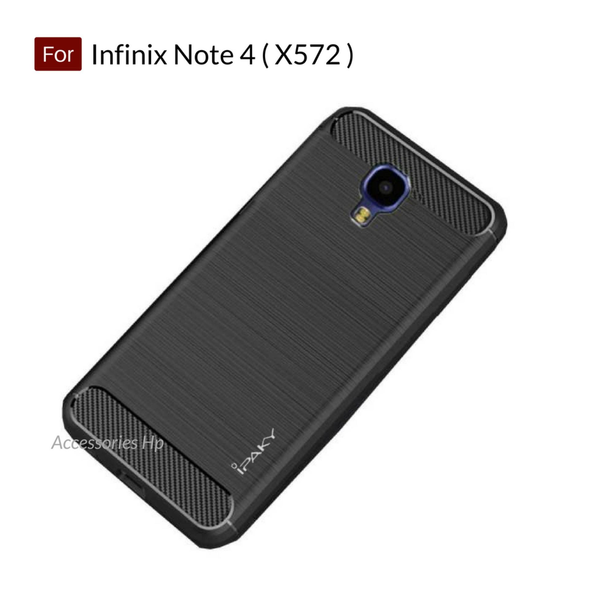Accessories HP Premium Quality Carbon Shockproof Hybrid Case For Infinix Note 4 ( X572 ) - Black