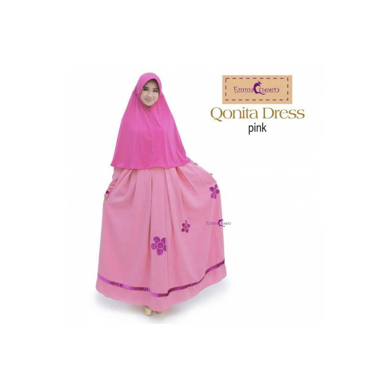 [TERBARU] Qonita Dress by EmmaQueen | Gamis | Baju Muslim Wanita