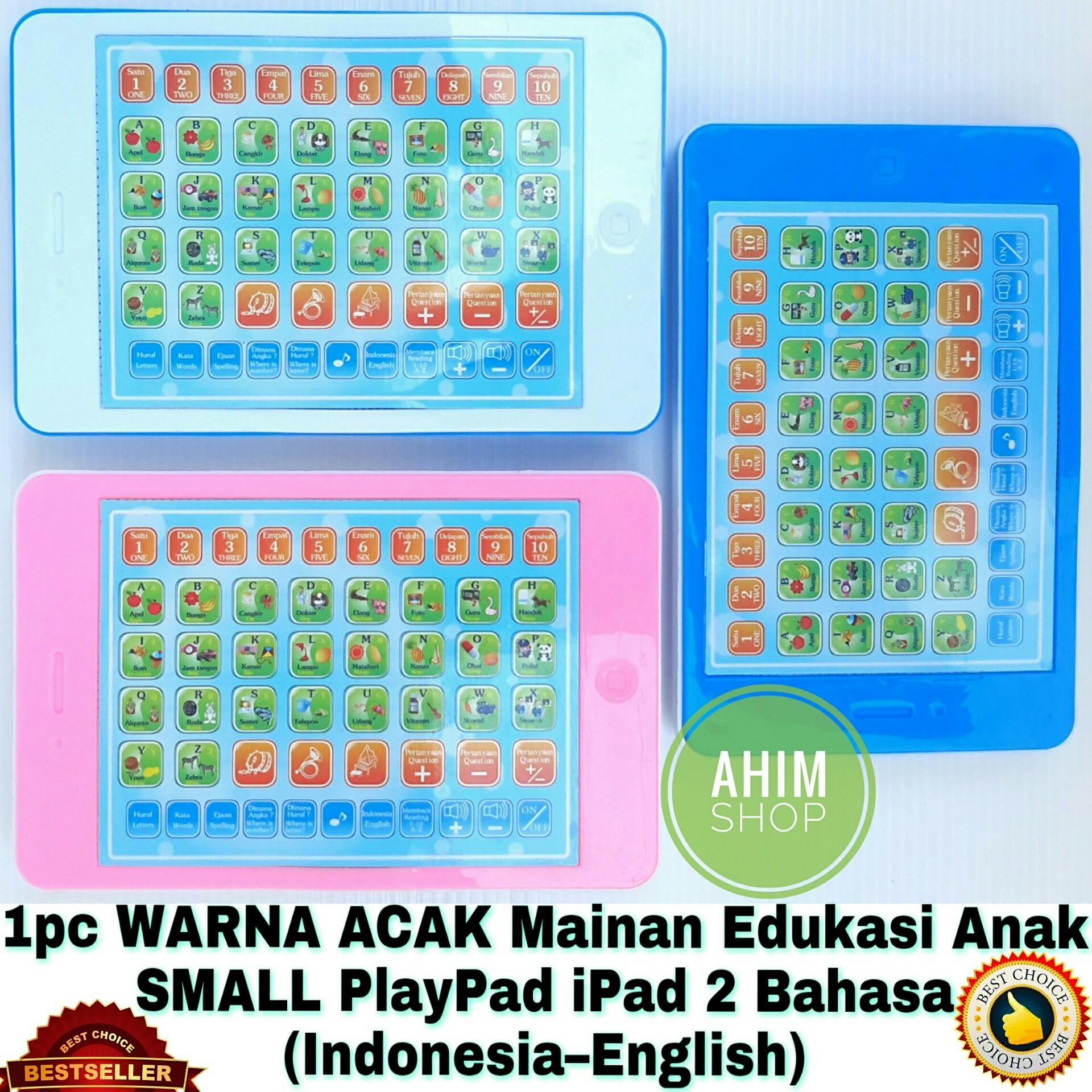 1pc Warna Acak Mainan Edukasi Anak 18 Fungsi Small / Mini PlayPad iPad 2 Bahasa (
