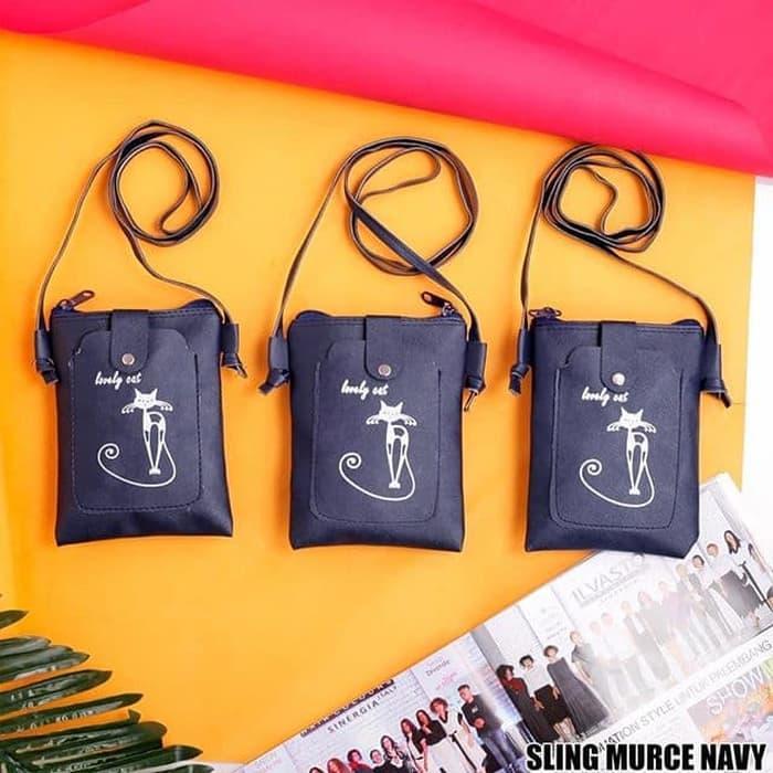 TAS SLEMPANG / TAS MINI / MINI BAG / TAS SANTAI / ailafashion / KADO ULTAH / KADO TAS / TAS MURAH / TAS SLEMPANG MURAH / KADO TAS MURAH / TAS MURAH SURABAYA / HADIA MURAH / SLING MURCE NAVY - Navy