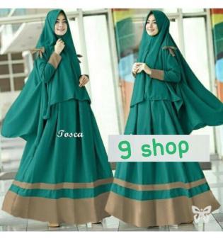Bandingkan Toko 9 Shop Gamis Syari Set 2 In 1 Sayra Baju Muslim