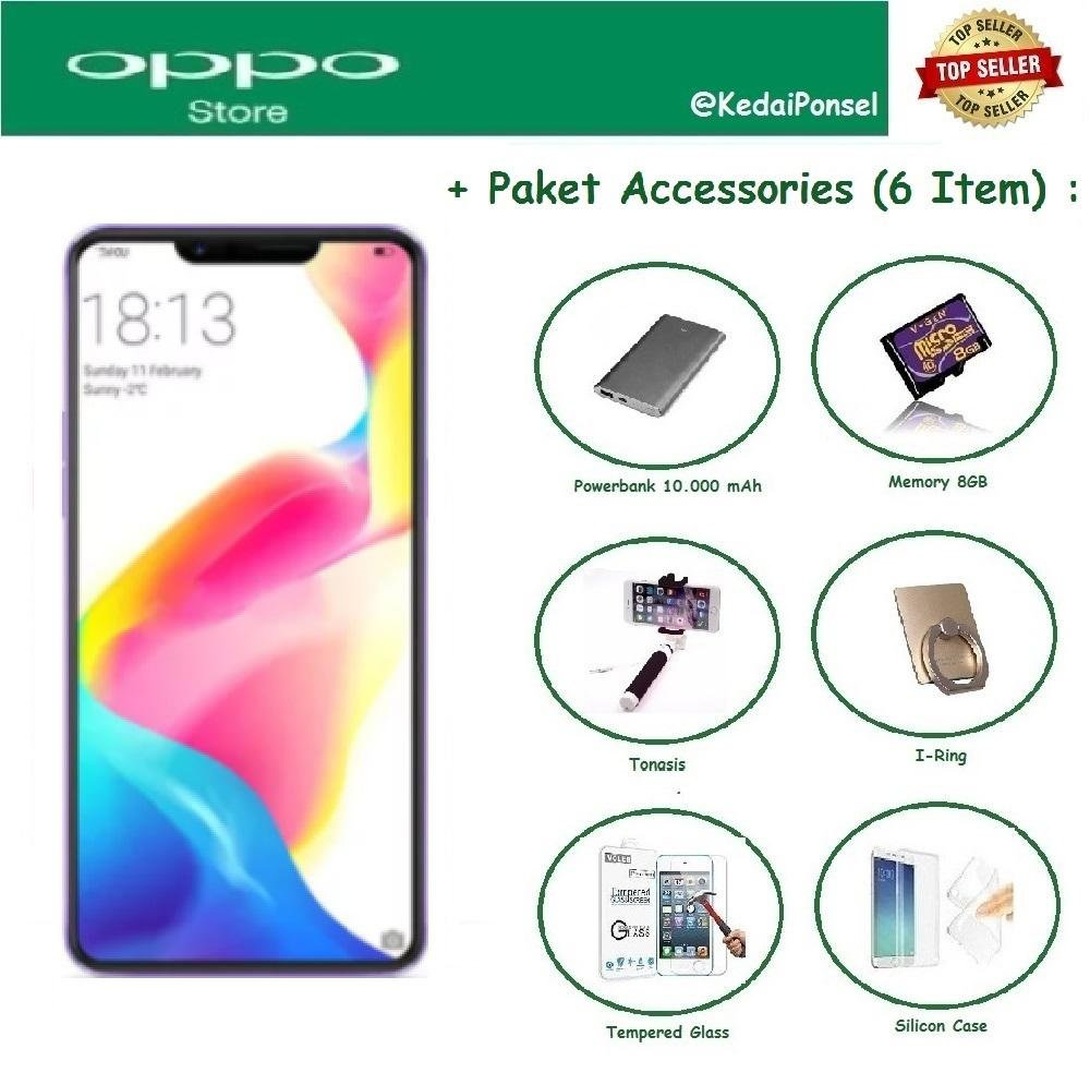OPPO F7 Youth [4/64GB] + 6 Item Accessories