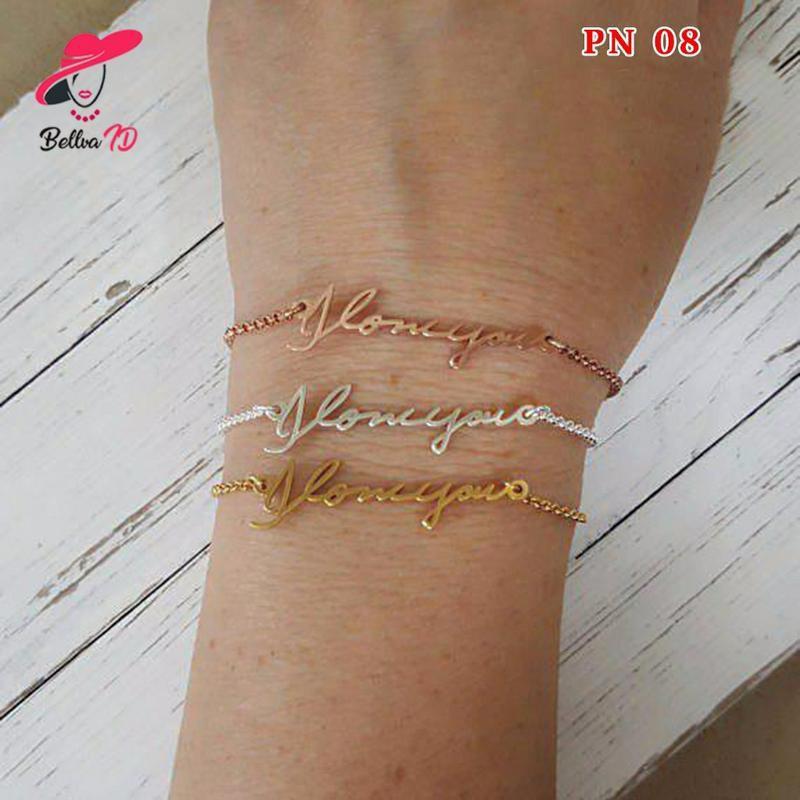 Gelang Nama Grafir Perhiasan Custome Handmade PN 08