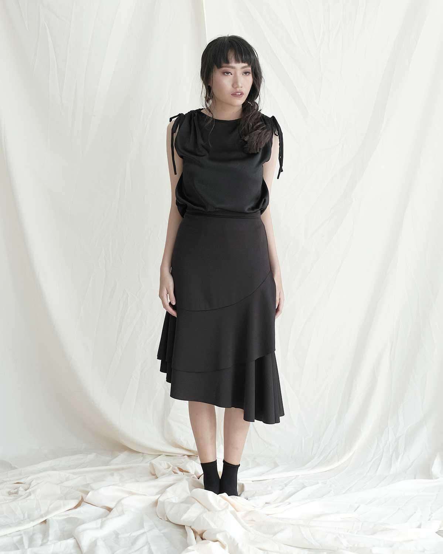 Buy Sell Cheapest Popoluca Ayra Blouse Best Quality Product Deals Birkin Khaki Top Women Leia Black Pakaian Atasan Wanita