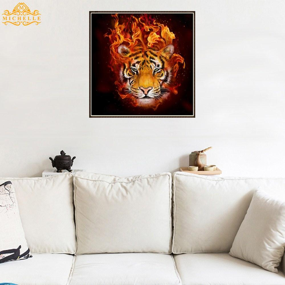 Buy Sell Cheapest 22fret Tiger Flame Best Quality Product Deals Auldey Yoyo Blazing Teens Double Diamond Fire King Embroidery Painting Vivifying Creative Canvas 1 Set