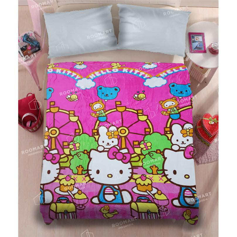 Selimut Anak Karakter Hello Kitty And Friends - Ukuran 135x150 cm