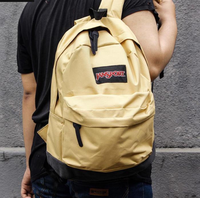 BEST SELLER!!! Tas Ransel Sekolah Jansport Yellow / Tas Pria Wanita Trendy Murah