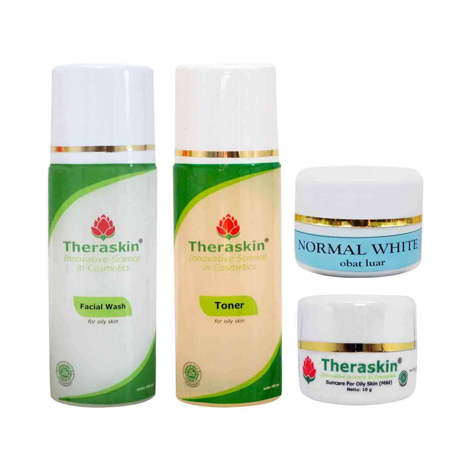 Buy Sell Cheapest Paket Termurah Theraskin Best Quality Product Original Normal Whitening Oily White Isi 4
