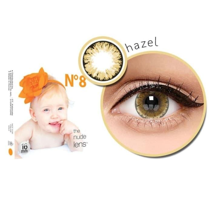 Baby Eyes X2 Ice Nude N8 Softlens by Exoticon – Hazel ( coklat ) + Free Lenscase