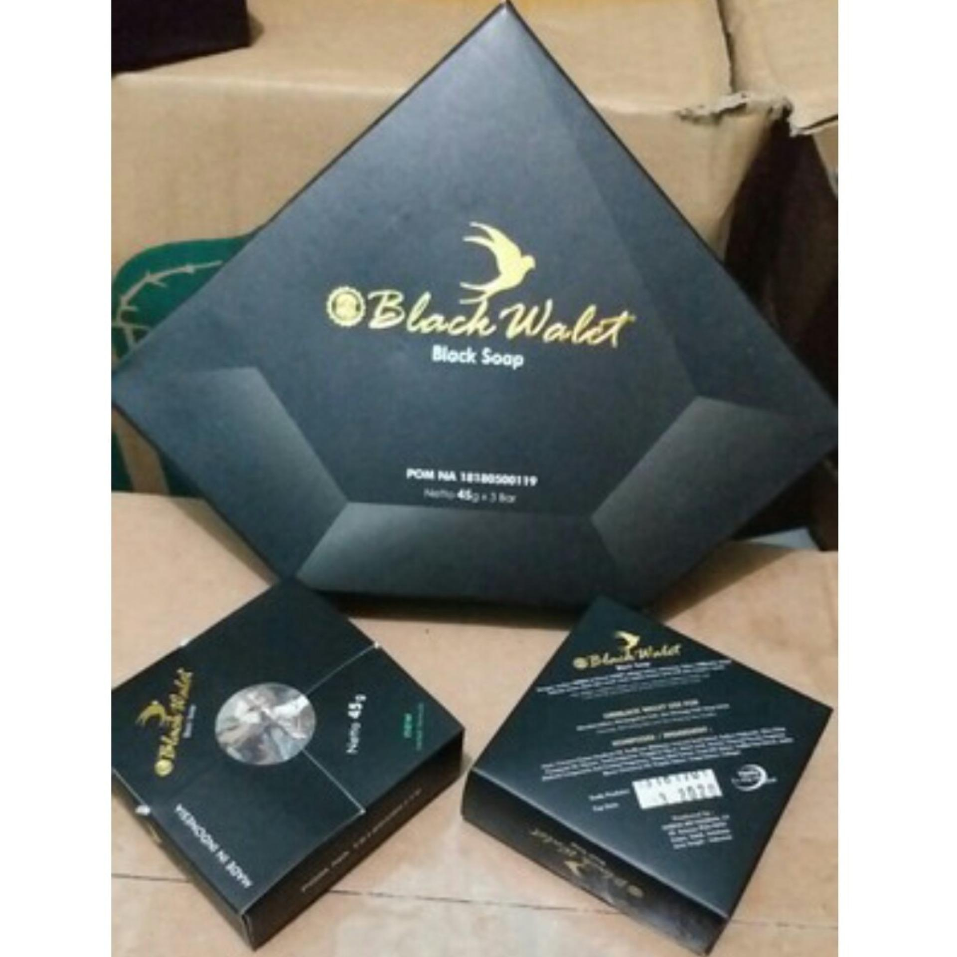 Assyifa [3 pcs] ORIGINAL Sabun Hitam Sabun Black Walet Facial shoap Wallet