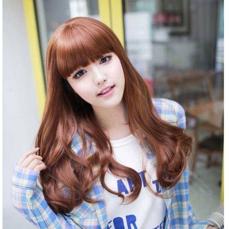 Hair Wig Rambut Palsu Panjang (Light Brown) - HO5229