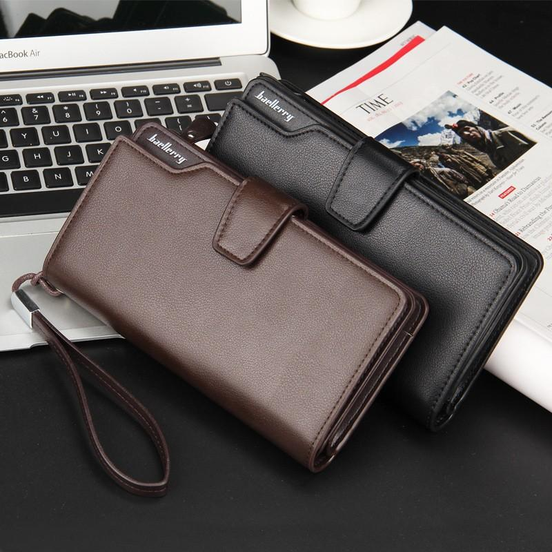 Baellerry - Dompet Kulit Pria Long Man Leather Wallet - Coklat - Hitam -  Kulit Asli 65887dc1f8