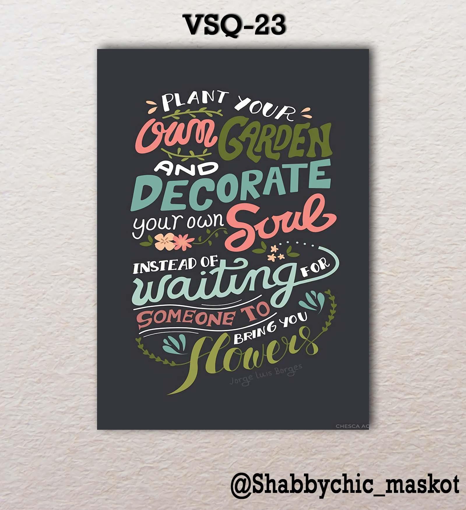 Vasty Hiasan Dinding Kayu Wall Decor Poster Super Quotes VSQ-23