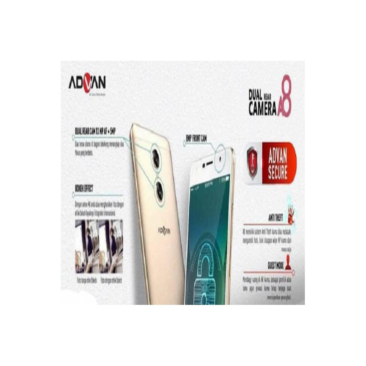 Advan Vandroid A8 Dual Rear Camera RAM 4gb ROM 32gb